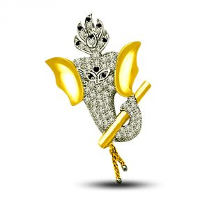 Surat Diamond Ganesha Angel Pendant P1218_1