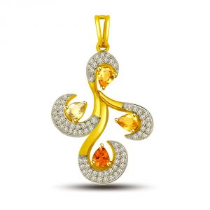 Triveni,Pick Pocket,Jpearls,Surat Diamonds Women's Clothing - Surat Diamond Be Your Own Superstar Pendant P1230