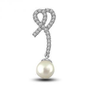 Lime,Surat Tex,Soie,Surat Diamonds,Flora,La Intimo,Unimod Women's Clothing - Surat Diamond Precious Royal Pearl & Diamonds Pendant P1237