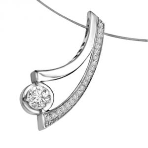 0.21ct 14kt White Gold Diamond Pendant P1337