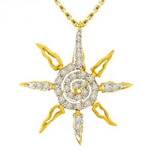 Surat Diamond You Are My Star,0.45ct Diamond Star Gold Pendant P1340
