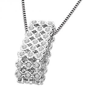 Surat Diamond Bouquet Of Diamonds 0.36ct White Gold Diamond In A Sieve Beautiful New Design Pendant For Her P1344