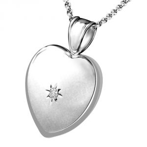 Surat Diamond Elegant & Stylish Diamond Heart White Gold Pendant For Your Sweetheart P1352