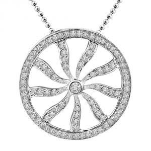 Rcpc,Ivy,Soie,Surat Diamonds,Port,Fasense,Cloe Women's Clothing - Surat Diamond Chakra Of Life : 0.88ct Diamond 14kt White Gold Pendant P1354