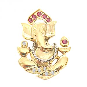 Kiara,La Intimo,Shonaya,Jharjhar,Unimod,Jagdamba,Triveni,Surat Diamonds Diamond Jewellery - Surat Diamond Graceful Ganesha P206