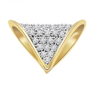 Surat Diamond Precious Knot Fancy Diamond Designer Pendant P279