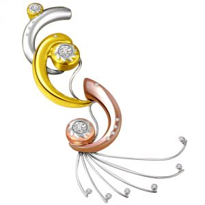 Triveni,Sangini,Kiara,Estoss,Cloe,Oviya,Surat Diamonds Women's Clothing - Surat Diamond Charming Curve 0.21ct Diamond Pendant P428