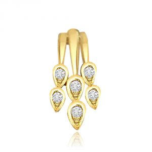 Rcpc,Ivy,Surat Diamonds,Port,Jharjhar,La Intimo Women's Clothing - Surat Diamond Drops of Rain Diamond Pendant P460