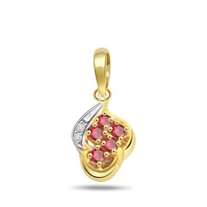 Lime,Surat Tex,Soie,Surat Diamonds,Flora,Tng Diamond Jewellery - Surat Diamond Ruby Diamond Splash Pendant P500