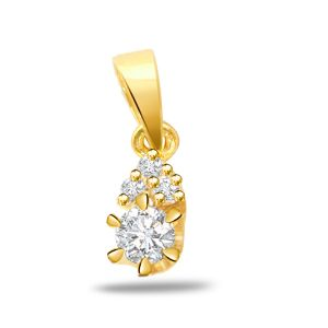 Surat Diamond Golden Sunshine Beauty - 0.35ct Vs Clarity Diamond Gold Pendant P530