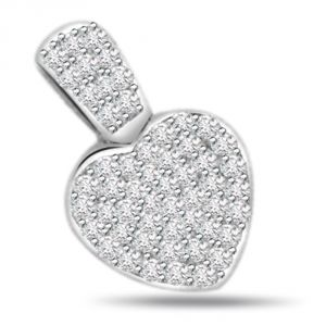 Surat Diamond Heart Glitter - 0.50ct Diamond Heart Shape 14kt Gold Pendant P548