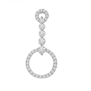Surat Diamond Hanging Hoop Of Passion - 0.45 Cts 14k Gold Diamond Pendant P653