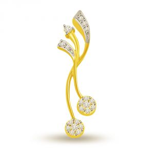 Surat Diamond 0.15 Cts Designer 18k Gold Diamond Pendant P671