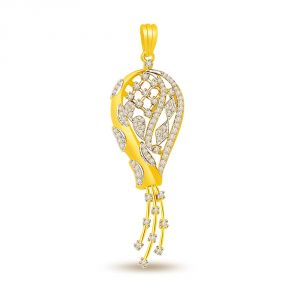 Surat Diamond Stylish Senorita - 0.40 Cts Fancy Diamond Pendant In 18k Gold P687