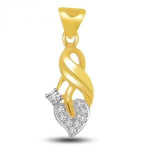Surat Diamonds,Kiara Women's Clothing - Surat Diamond Tear Of Your Heart Diamond & Gold Pendant P721