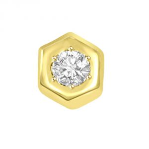 Gold Pendant Sets - Surat Diamond 0.36 TCW Diamond encircled in 18kt Yellow Gold Pendant P768