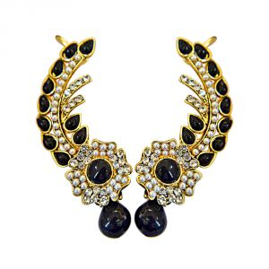 Surat Diamond Midnight Blossom Ear Cuffs Pse76