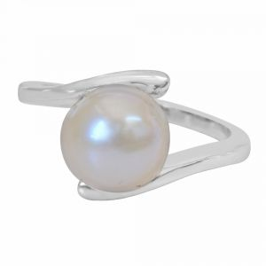 Surat Diamond 5.00 Cts Real Big Pearl & 925 Sterling Silver Ring For Astrological Power For All Psr2