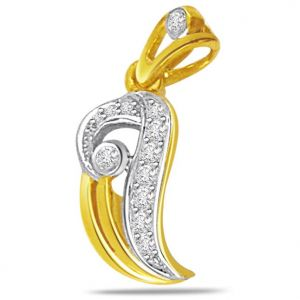 Surat Diamond Fall In Love Diamond Pendant - P436