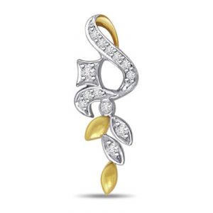 Surat Diamond Beautiful Smile Diamond Pendant - P448