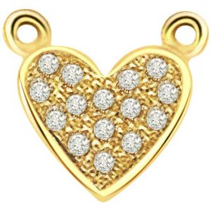 Kiara,Flora,Triveni,Valentine,Surat Diamonds,Clovia Women's Clothing - Surat Diamond 0.10ct Diamond Heart Pendant -  P459
