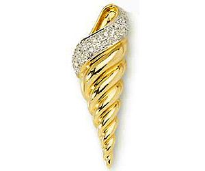 Surat Diamond 0.06ct Diamond Ice-cream Cone Pendant - P465