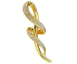 Surat Diamond 0.17ct Diamond Fancy Gold Pendant - P466