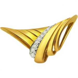 Surat Diamond 0.08ct Diamond Gold Pendant - P471