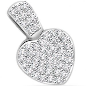 Surat Diamond 0.50ct Diamond Heart Shape 14kt Gold Pendant - P548