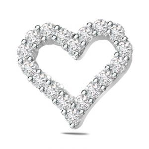 Surat Diamond 0.40ct Diamond Heart Shape 14kt Gold Pendant - P552