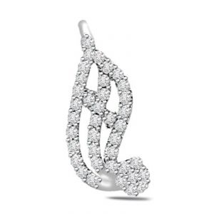 Surat Diamond 0.70ct Trendy Diamond 14kt Gold Pendant - P561