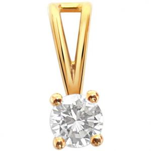 Surat Diamond 0.40ct Diamond Solitaire Pendant - P571