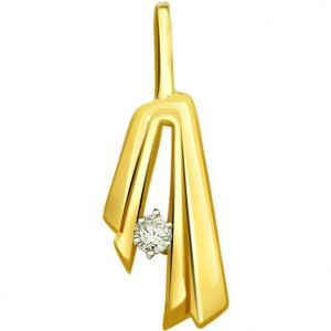Surat Diamond 0.04 Cts Solitaire Diamond 18k Pendant - P627