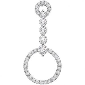 Surat Diamond 0.45 Cts 14k Gold Diamond Pendant - P653