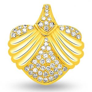 Surat Diamond 0.30 Cts Fancy Heart Diamond 18k Pendant - P676