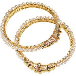 Surat Diamonds Jewellery - Surat Diamond Pearl  Pleasure Bangles  BGP1