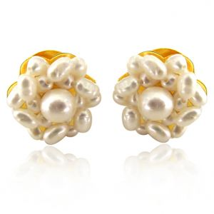 Surat Diamond Lustrous Pearl Beauties Earrings Se17