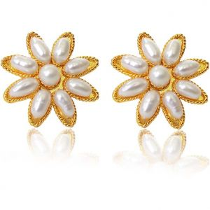 Surat Diamond Pearl Star Delight Earrings Se21