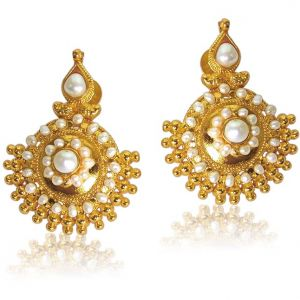Surat Diamond Vibrant Beauty Pearl Earrings Se27