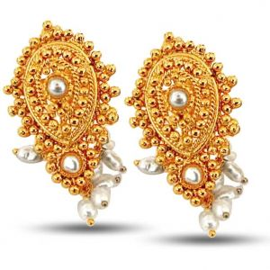 Surat Diamond Pearl Mystifying Magnificent Earrings Se37