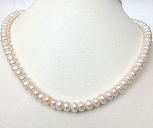 Surat Diamond Sweet N Single Line Pearl Necklace Sn123