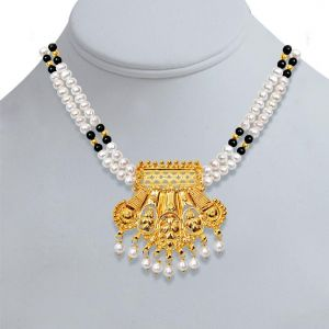 Surat Diamond Pearl Traditional Delight Necklace Sn126