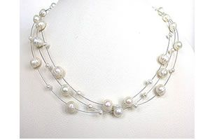 Surat Diamond Pearl Jealousy Necklace Sn195