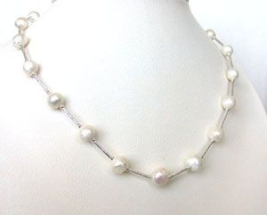 Surat Diamond Pearl Spark Necklace Sn202