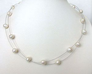 Surat Diamond Pearl Illumine Necklace Sn208