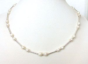Surat Diamond Pearl Morning Glow Necklace Sn209