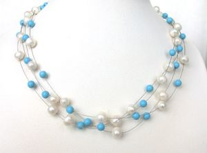 Surat Diamond Pearl Immortal Elegance Necklace Sn211