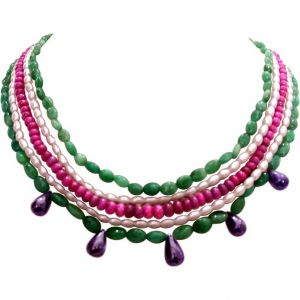 Surat Diamond Pearl Bohemian Grace Necklace Sn272