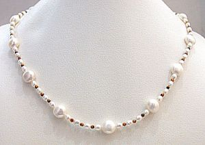 Surat Diamond Pearl Hazelnut Necklace Sn277