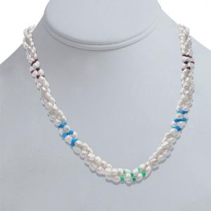 Surat Diamond Pearl Vanilla Ice Necklace Sn304